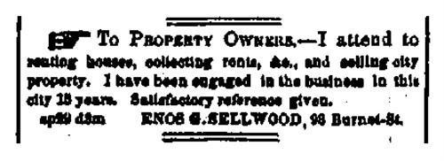 Enos G. Sellwood 1859