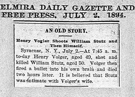 Strutz Elmira with banner 1894 an old story