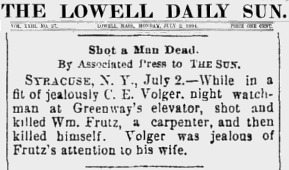 Strutz The Lowell Sun 3 July 2 1894  Frutz C.E. Vogler