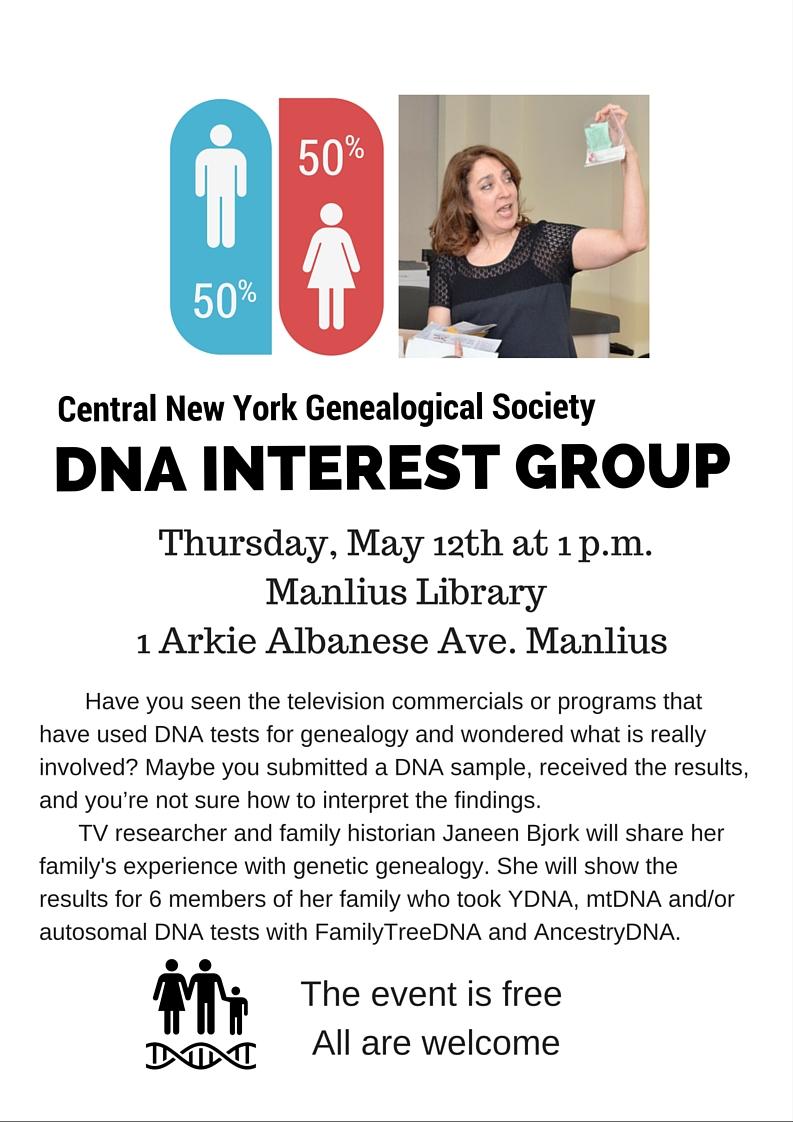 DNA Interest Group Syracuse, NY