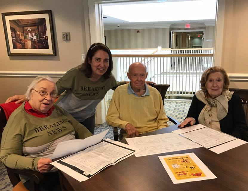 genealogy class atria senior living