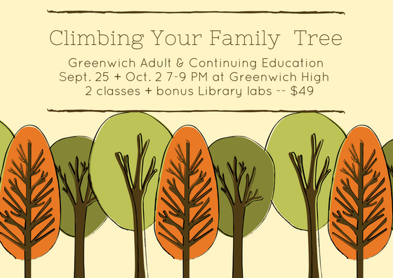 Family Tree Genealogy Course Greenwich, CT