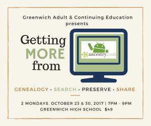 Ancestry.com Course Greenwich CT