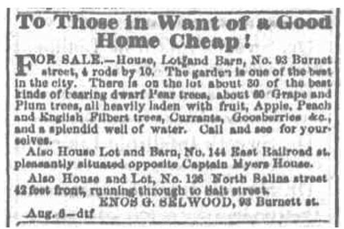 Enos G. Sellwood 1862