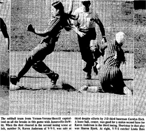 Sharon Bjork shortstop