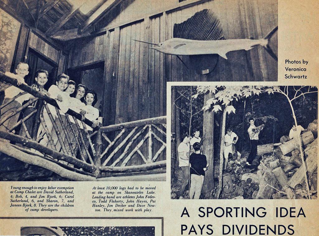 Bjork kids Camp Chalet newspaper story