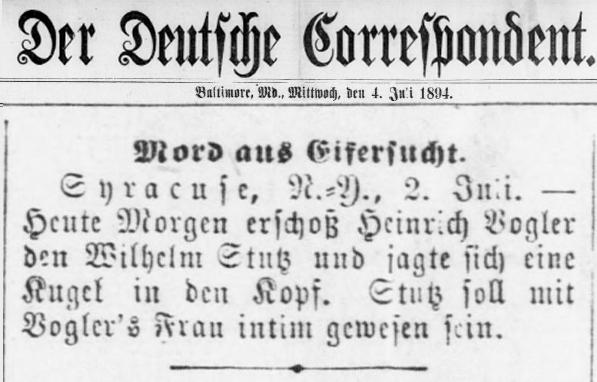 Strutz Der Deutsche Correspondent July 4 1894 searched by Stutz