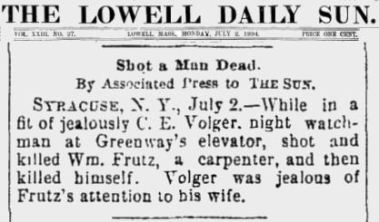 Strutz The Lowell Sun 3 July 2 1894  Frutz C.E. Vogler