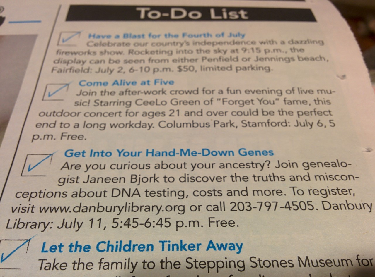 Danbury Library events