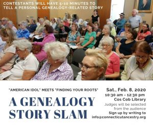 Genealogy Story Slam, produced for the Connecticut Ancestry Society