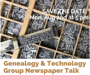 Genealogy and Technology workshop